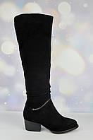 Женские зимние сапоги Brocoly на маленьком каблуке