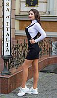 Сарафан + гольф женский 1070 (42 44 46 48) (цвет черный) СП, фото 1