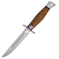 Нож А&Р Финка-2, рукоять дерево (длина: 24.5см, лезвие: 13.0см), ножны кожа