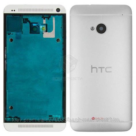 Корпус для HTC One M7 801e Original Silver, фото 2
