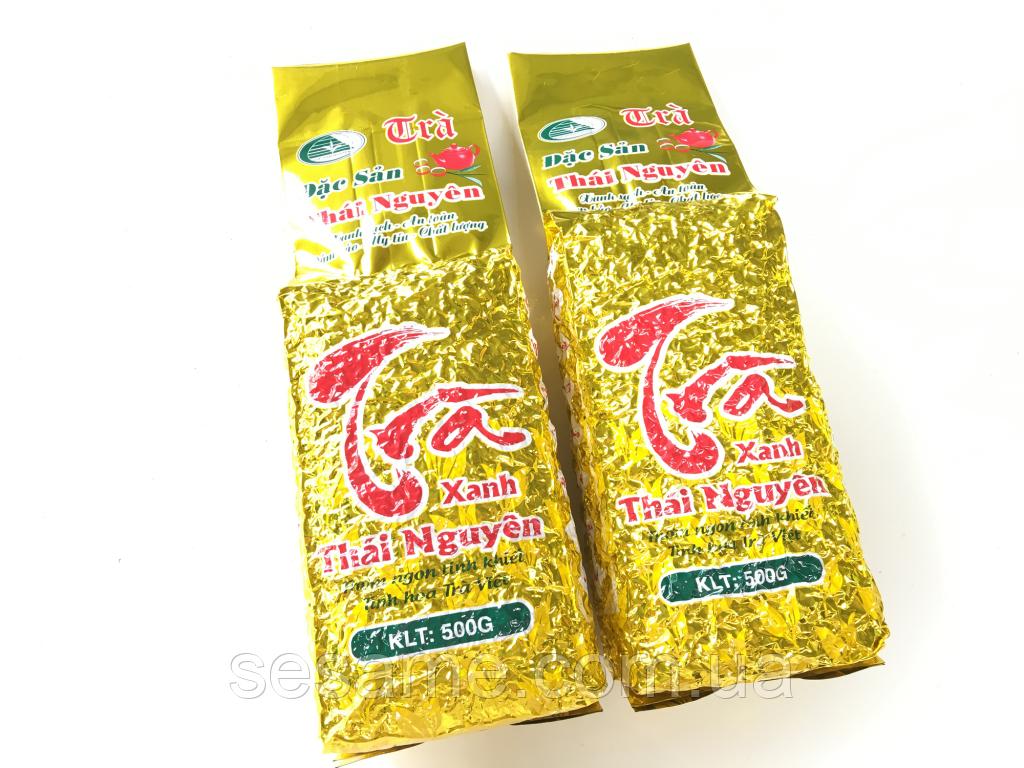 Вьетнамский Зеленый чай(премиум класса) Dac Sun Tan Cuong Thai Nguyen(Вакуум)  500г