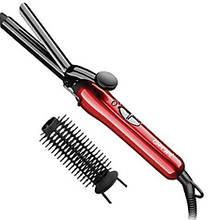 Плойка-щипцы для волос Gemei GM-2906 с насадкой щетки