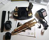 Машинка для стрижки Rozia HQ-5500 7 в 1 бритва, триммер для бороды носа ушей, фото 3