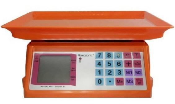 Весы торговые NK-4017 40 кг электронные со счетчиком цены