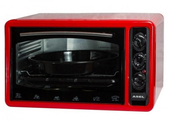 Духовка электрическая Asel 40л AF-0123 красный