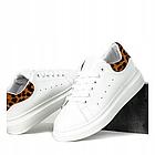 Женские кроссовки , кеды в белом цвете с леопардом
