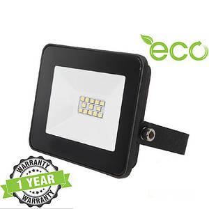 Светодиодный LED прожектор 10W 6000-6500К IP65 SMD серия ECO