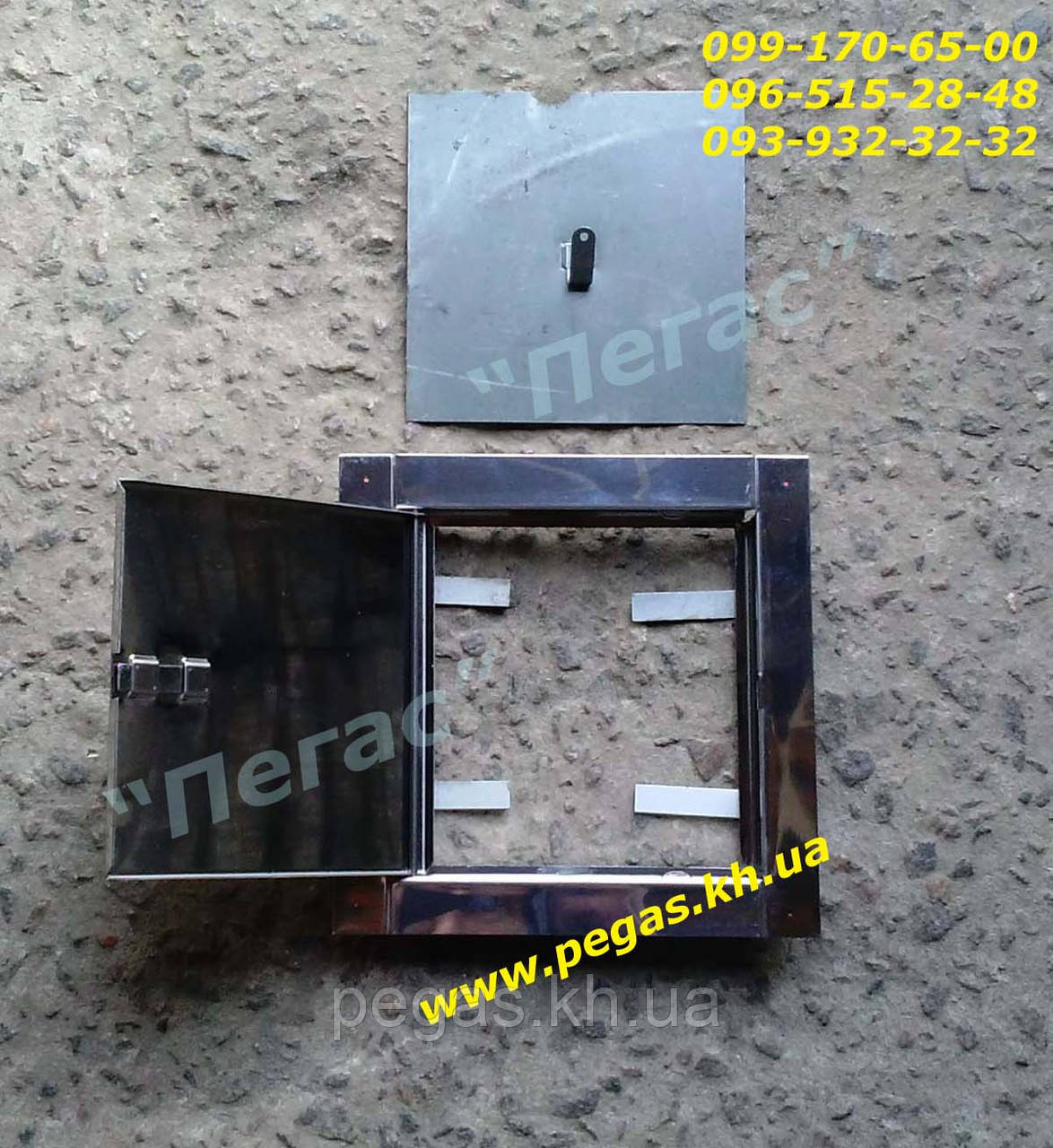 Дверца сажетруска прочистная нержавейка 140х140 мм. люк для золы, сажечистка