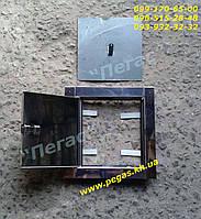 Дверца сажетруска прочистная нержавейка 140х140 мм. люк для золы, сажечистка, фото 1
