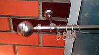 Карниз кованый одинарный 16 мм Калисто сатин-2,4м