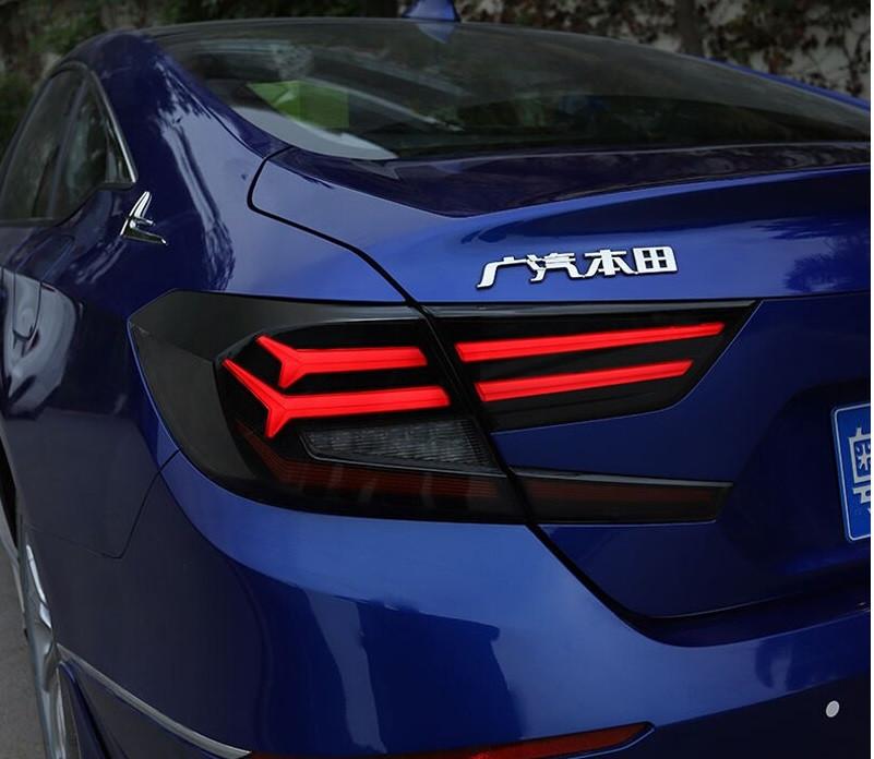 Диодные фонари LED тюнинг оптика Honda Accord 10 (2018+) тонированные