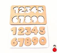 Деревянные детали для бизиборда Цифры Рамка Вкладыш Набор цифр 0-9 дерев'яні цифри заготовка декупажа цифра