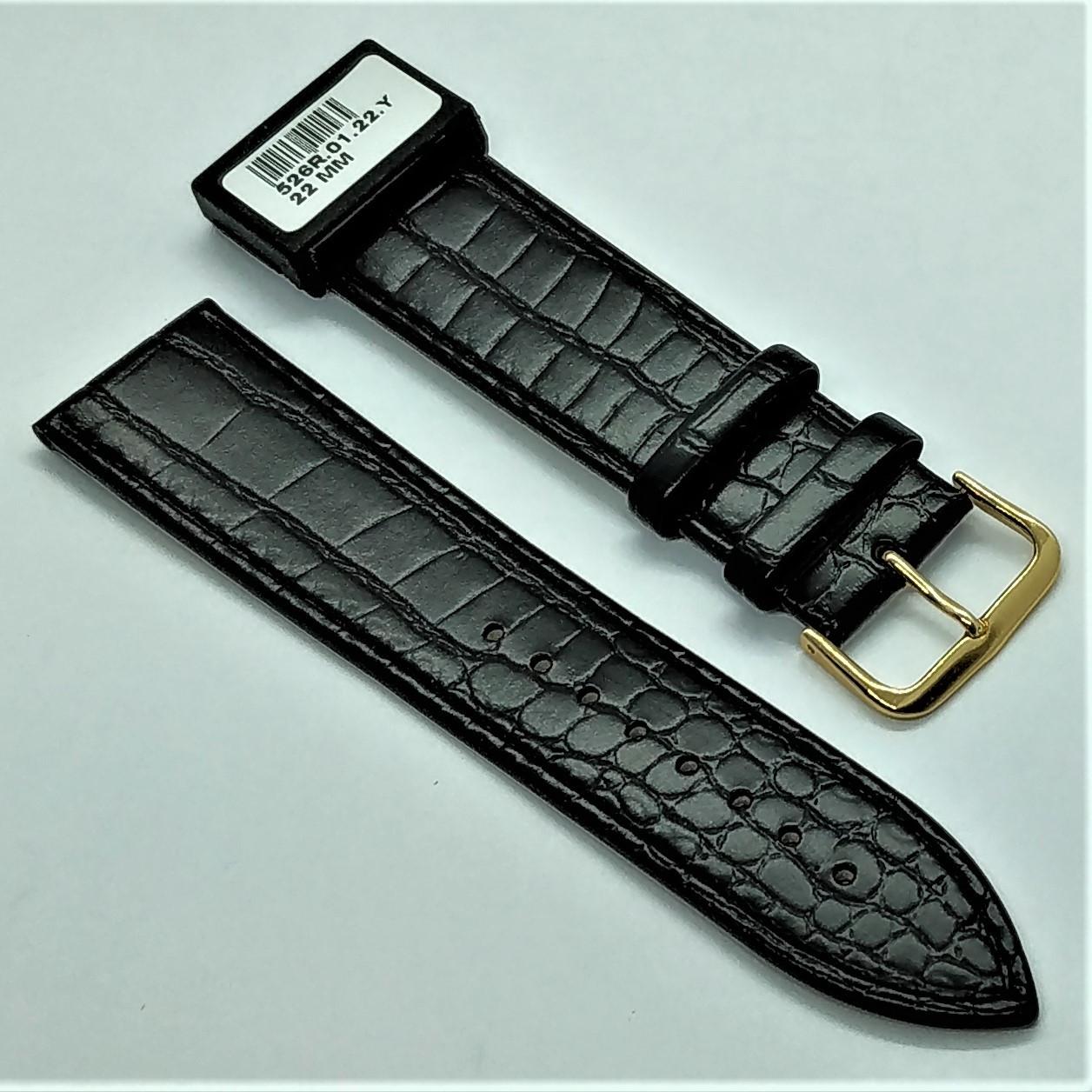 22 мм Кожаный Ремешок для часов CONDOR 526.22.01 Черный Ремешок на часы из Натуральной кожи