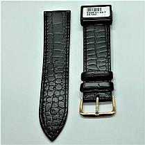 22 мм Кожаный Ремешок для часов CONDOR 526.22.01 Черный Ремешок на часы из Натуральной кожи, фото 2