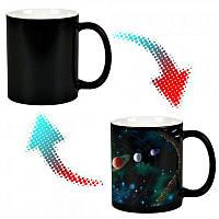Кружка-чашка хамелеон с терморисунком Парад Планет