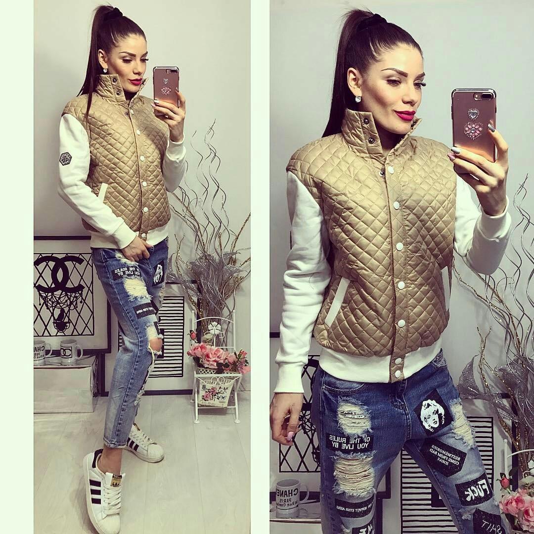 Куртка женская, модель 773, бежевая