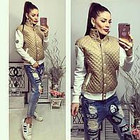 Куртка женская, модель 773, бежевая, фото 1