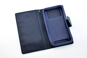 """Чехол-книжка 4you Fancy 4,5""""-4,8"""" aquamarine/dark blue универсальная ТОП Продаж!, фото 2"""