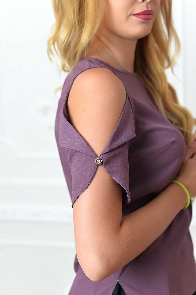 Блузка женская, модель 901/1 цвет лиловая