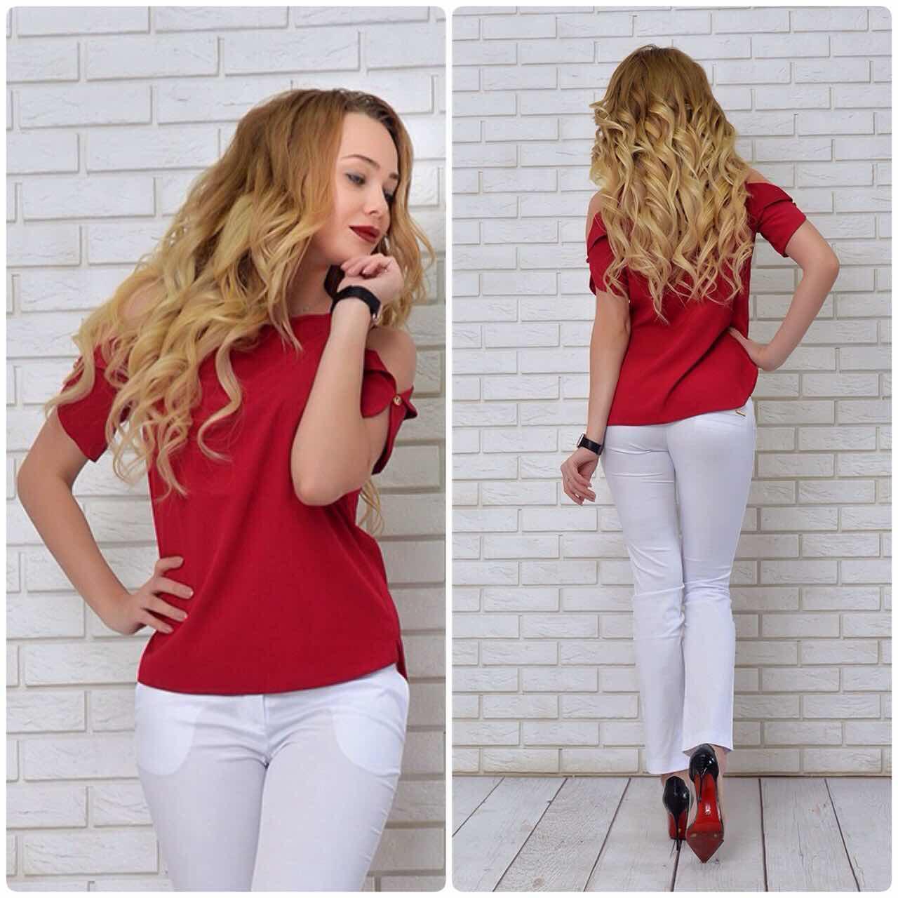 Блузка женская, модель 901/1 цвет вишня