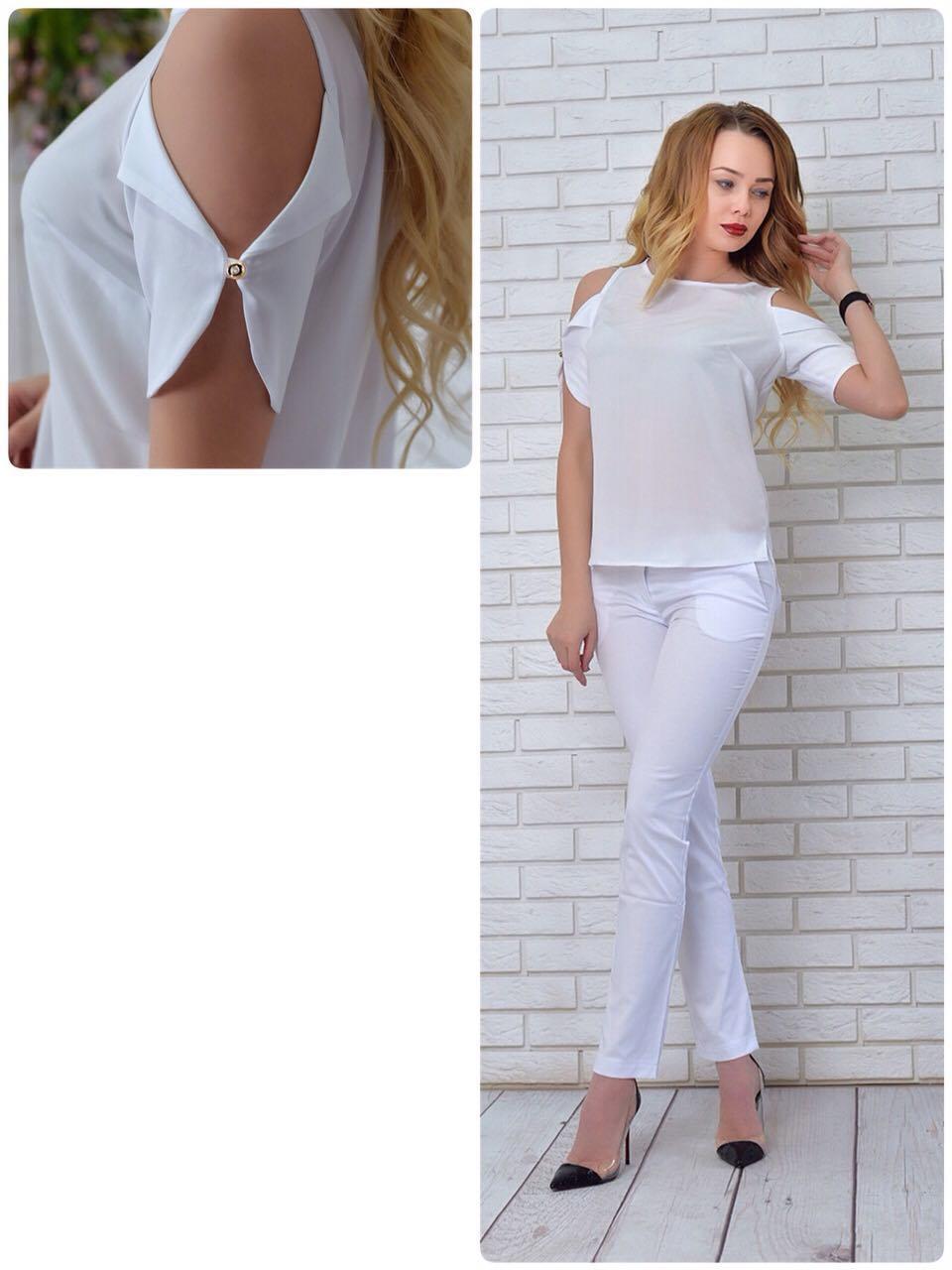 Блузка женская, модель 901/1 цвет белая