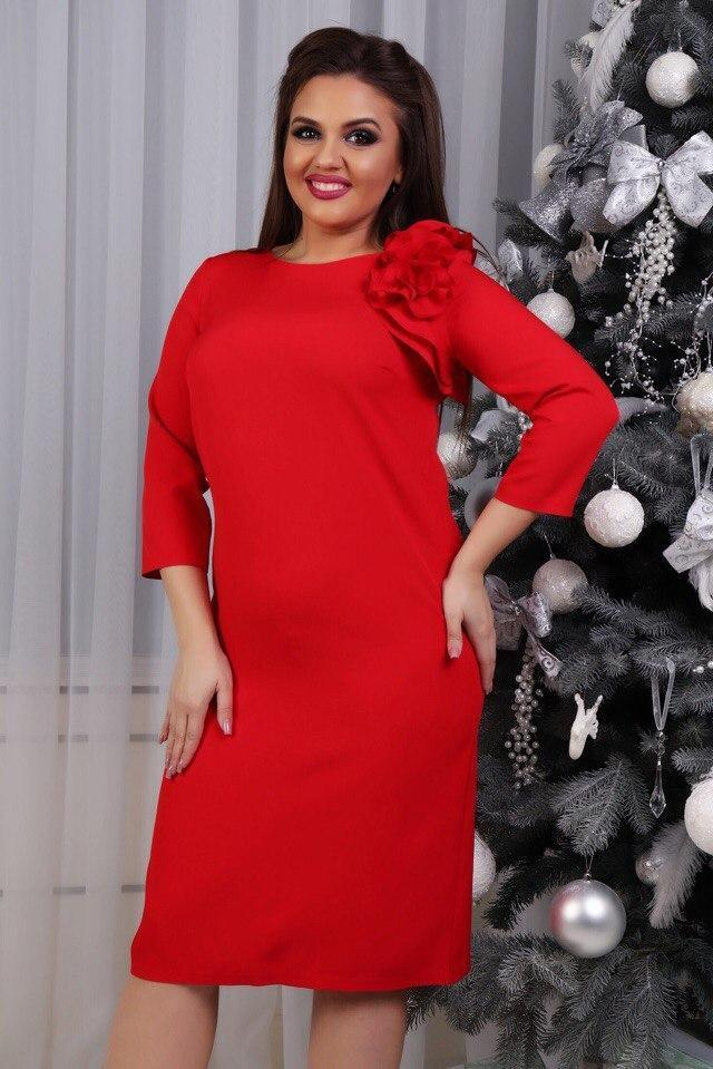 Сукня з квіткою, модель 797, червоне