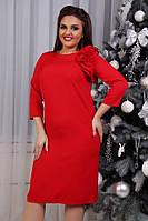 Сукня з квіткою, модель 797, червоне, фото 1