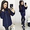Пальто на молнии с подкладкой синий (ПОШТУЧНО)