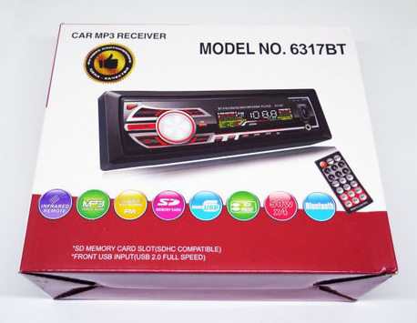 Автомагнитола 1DIN MP3-6317BT RGB/Bluetooth | Автомобильная магнитола | RGB панель + пульт управления, фото 2