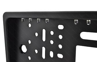 Камера заднего вида рамка 16LED Black с подсветкой в рамке номерного знака, фото 3