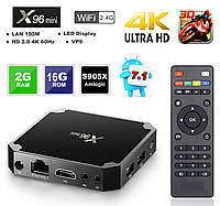 Смарт ТВ приставки X96 mini 1/8 Gb 2/16 Gb IPTV Android TV BOX 7.1.2