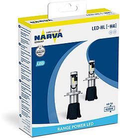 Комплект диодных ламп Narva 18004 H4 6000K X2 15,8W P43t-38