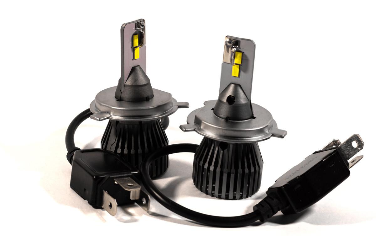 Комплект LED ламп HeadLight F1X H4 (P43t) 52W 12V 8400Lm с активным охлаждением (увеличенная светоотдача)