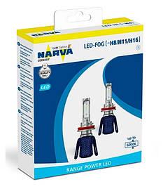 Комплект диодных ламп Narva 18013 H8/H11/16 6000K X2 16W PGJ19-2