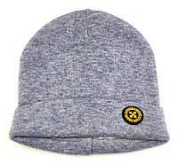 Детская шапка теплая 46 48 50 размер детские шапки помпонами на завязках зимняя флисом, фото 1