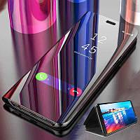 Зеркальный чехол-книжка с функцией подставки для Samsung S9 черный