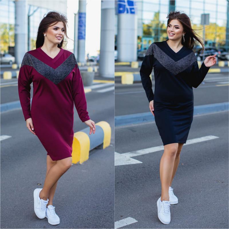 Платье с люрексом  Мод . 913-1 ХЛ+