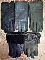 Теплые меха мужские перчатки только оптом, фото 1