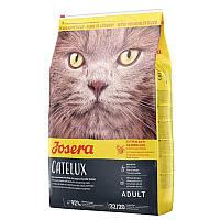 Josera Catelux с аппетитной уткой и картофелем корм для взрослых кошек, с выведением волосяных комочков, 2 кг