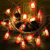 """Led гирлянда """"Керосиновые лампы"""" 1,5 м 10 ламп"""