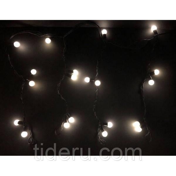 Новогодняя гирлянда штора Шарики 120 лампочек, 5м*0,6м