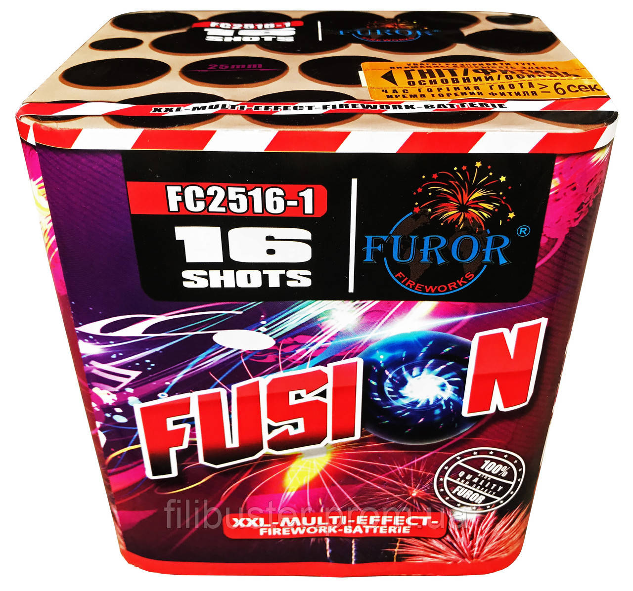 Салют Фурор Fusion на 16 выстрелов FC2516-1