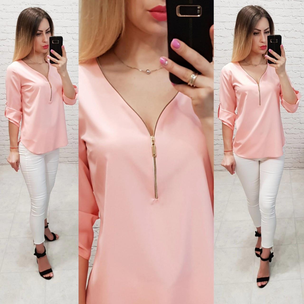 Блузка 158 Ткань: арт 158 нежно розовая