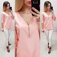Блузка 158 Ткань: арт 158 нежно розовая , фото 1