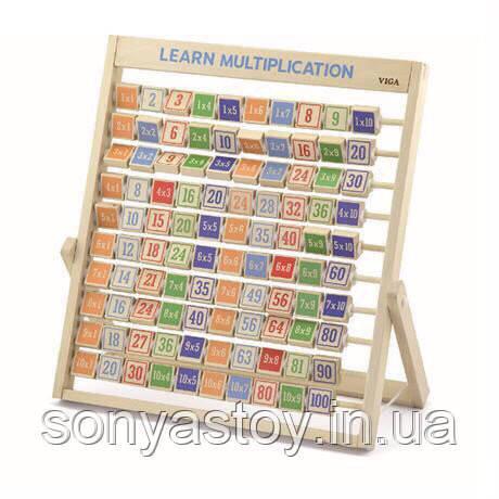 """Деревянный набор для изучения таблицы умножения, """"Изучаем умножение"""" 3+"""
