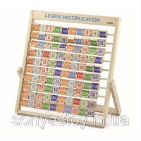 """Деревянный набор для изучения таблицы умножения, """"Изучаем умножение"""" 3+, фото 1"""
