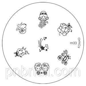 Трафареты для стемпинга KONAD (диски) М 33