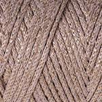 Macrame Cotton Lurex №735 мокко+золото