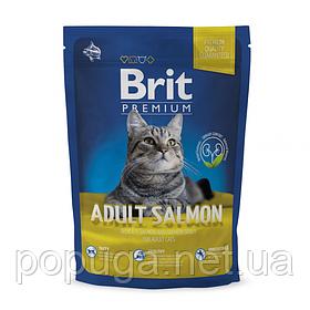 Корм Brit Premium Cat Adult Salmon для взрослых кошек ЛОСОСЬ, 800 г