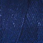 Macrame Cotton Lurex №740 тёмно синий+синий